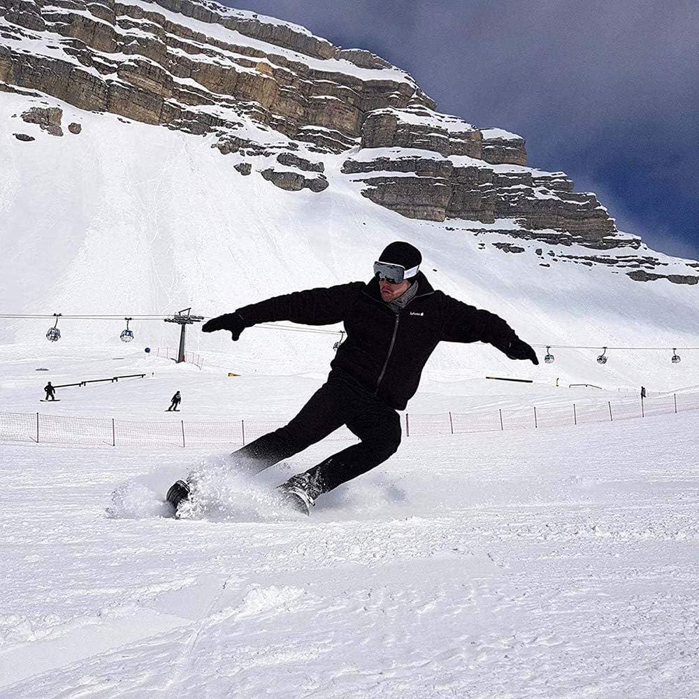 einstellbare Schneeschuhe Ski-Schlitten Snowboard f/ür M/änner Frauen f/ür Downhill an und aus den Pisten Waldwege im Freien Skilausr/üstung PinkDreamland Mini-Ski-Skates f/ür Schnee