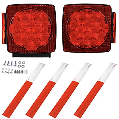CZC AUTO 12V LED Submersible Left and Right Trailer Lights Stop Tail Turn Signal Lights for Under 80 Inch Boat Trailer Truck RV Marine-Replacement for Your Incandescent Bulb Units, Trailer Light Kit: Automotive