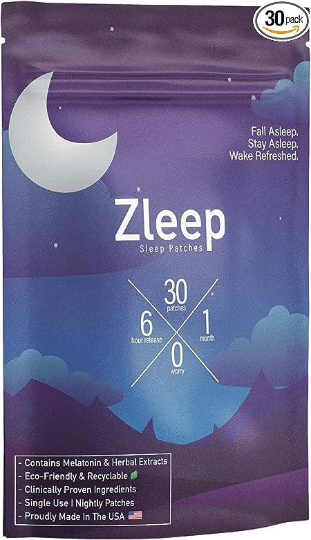 Zleep - Sleep Patches to Enhance Sleep, Reduce Insomnia, and Eliminate Tiredness
