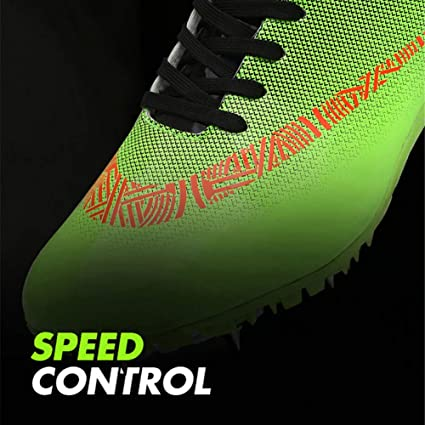 Junior dathl/étisme Sprint Spikes l/ég/ère Unisexe Chaussure de Course de Formation LFLDZ Chaussures Athl/étisme Hommes lac/ées Respirante Comp/étition Sportive Dedicated Chaussures,Vert,30