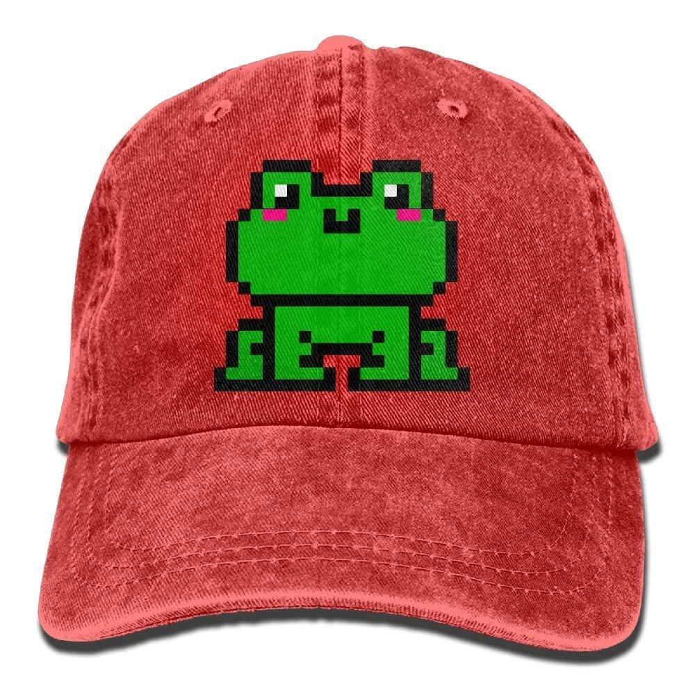 KASHFIHO Adult Kawaii Frog Pixel Art Adjustable Jeans ...