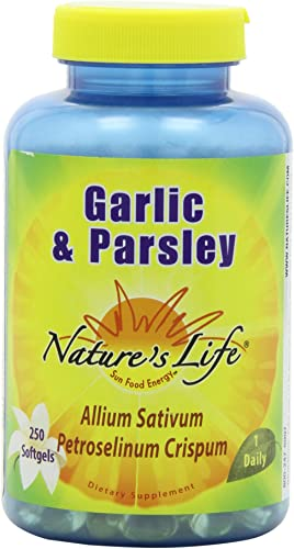 Nature s Life Garlic and Parsley Softgels, 250 Count