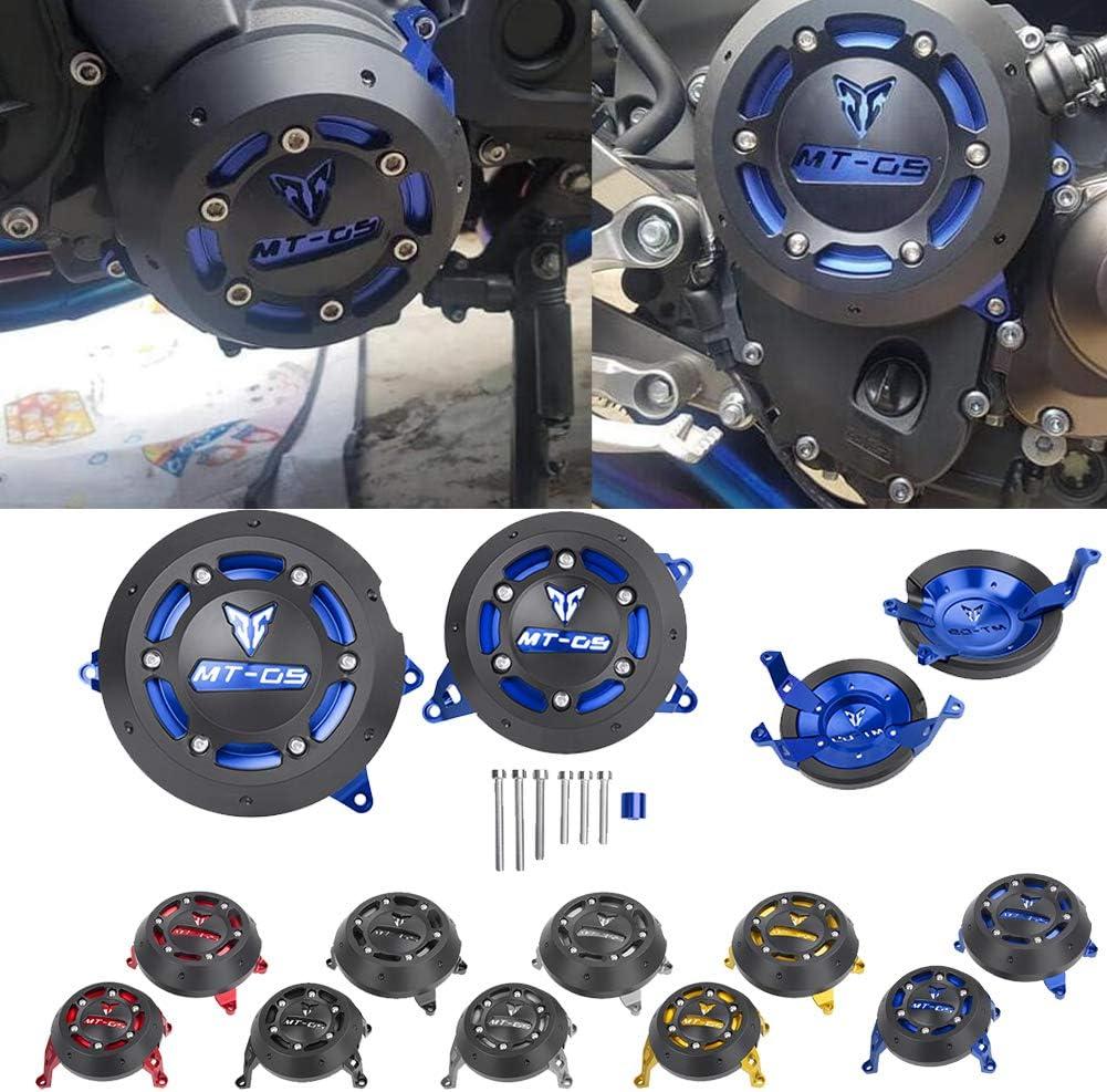 Xx Ecommerce Motorrad Motorrad Mt09 Left Right Cnc Motorschutz Stator Case Schutzstecker Kupplung Slider Abdeckung Für 2014 2015 2016 Yamaha Mt 09 Tracer 900 Schwarz Auto