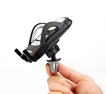 iVoler Soporte Movil Coche Aire 360 Grados Universal Soporte colocado en la Rejillas de Ventilación Coche