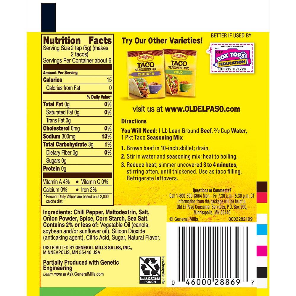 Old El Paso Taco Original Seasoning Mix 1 oz Packet by Old El Paso (Image #2)