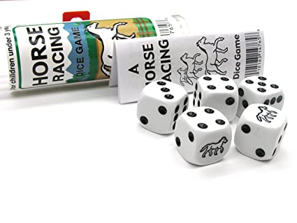 Amazon Com Horse Racing Dice Game Toys Games