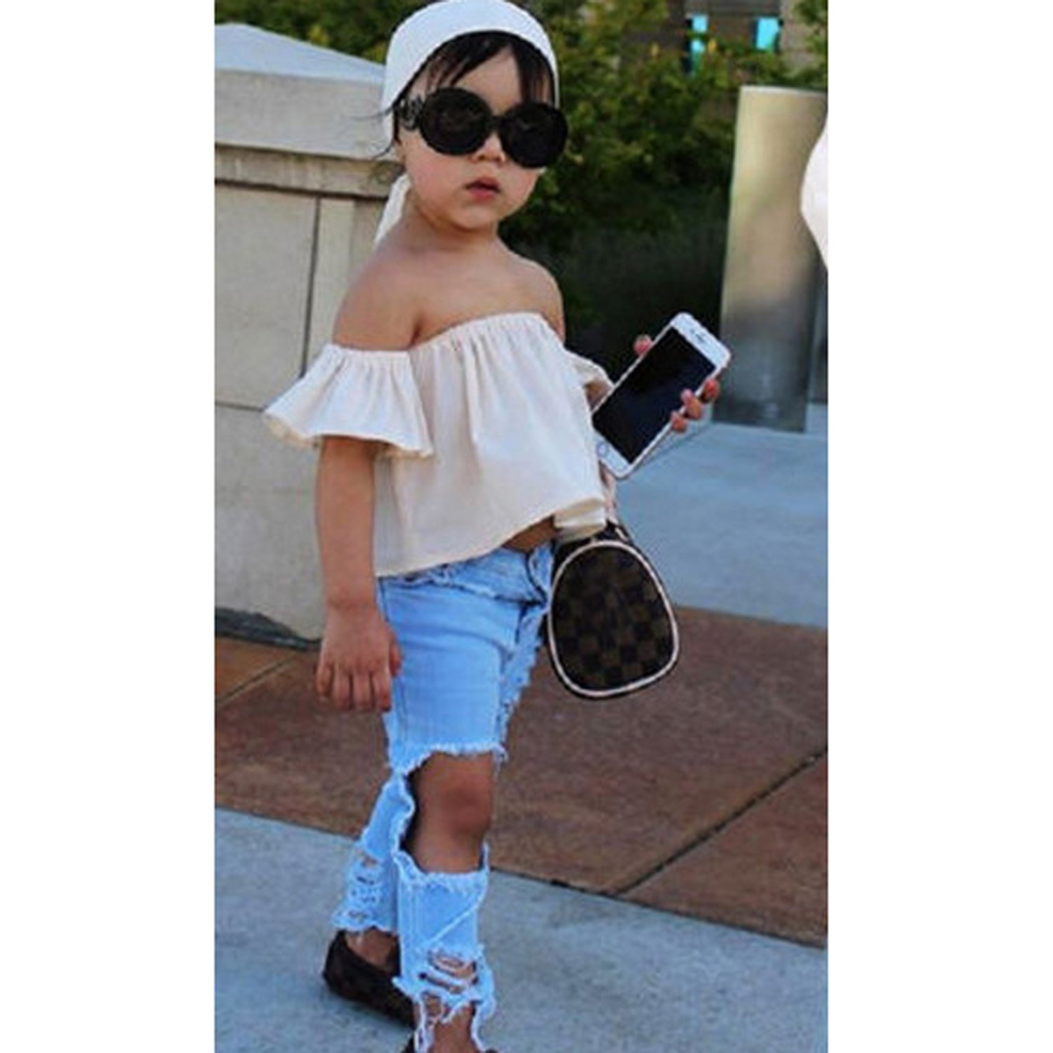 Odziezet Denim Dungarees Baby Boy Girl Jeans Overalls Ripped Holes Jeans Infant Strap Jumpsuit Suspenders Pants Outfits