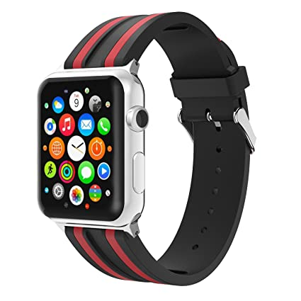 Amazon.com: TiMOVO Band for Apple Watch 38mm, Silicone ...
