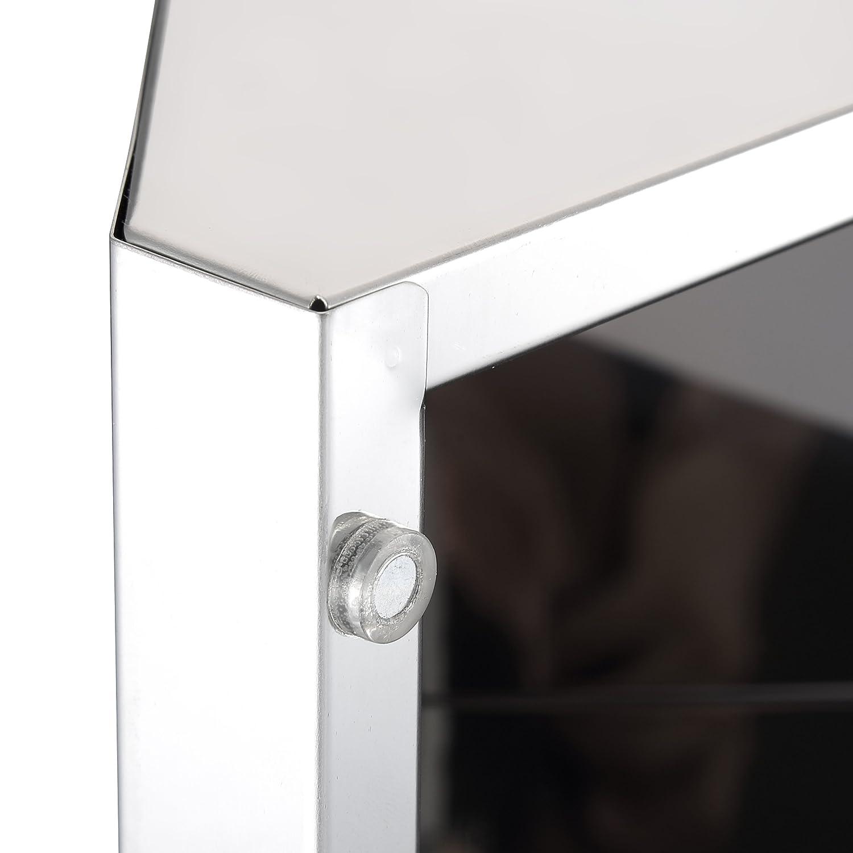 Kendan-Edelstahl Badezimmer Eck Spiegel Schrank Aufbewahrungsschrank