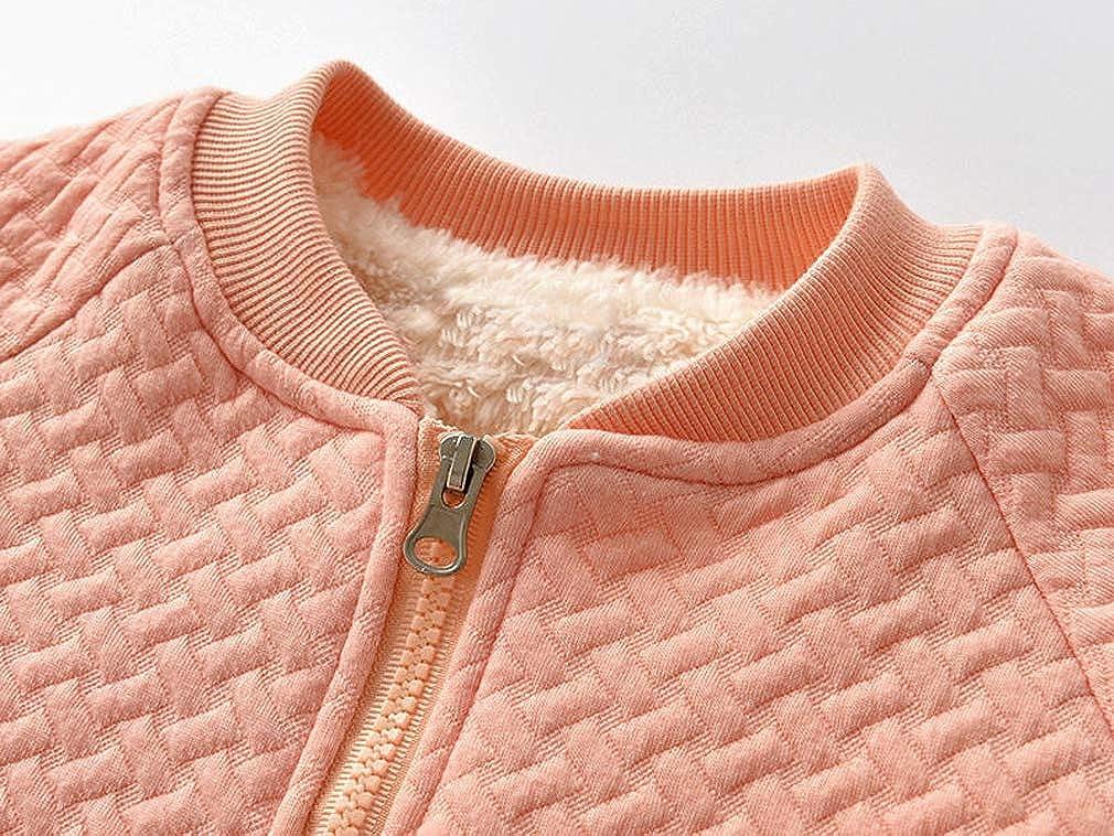 MINKIDFASHION Baby Girls Autumn Winter Warm Jacket Coat