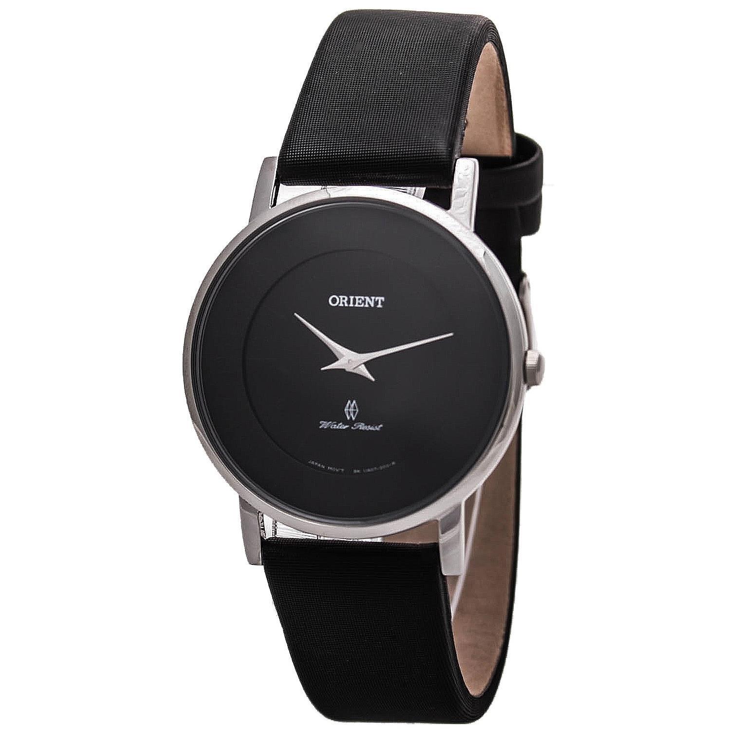 Amazon.com: ORIENT WOMENS 35MM BLACK LEATHER BAND STEEL CASE QUARTZ WATCH FUA07005B0: Orient: Watches