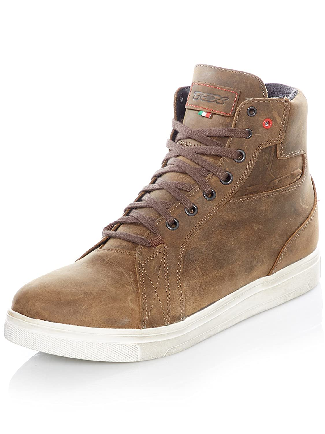 42 COFEE Brown TCX Motorcycle Boots Street ACE WP COFEE Brown