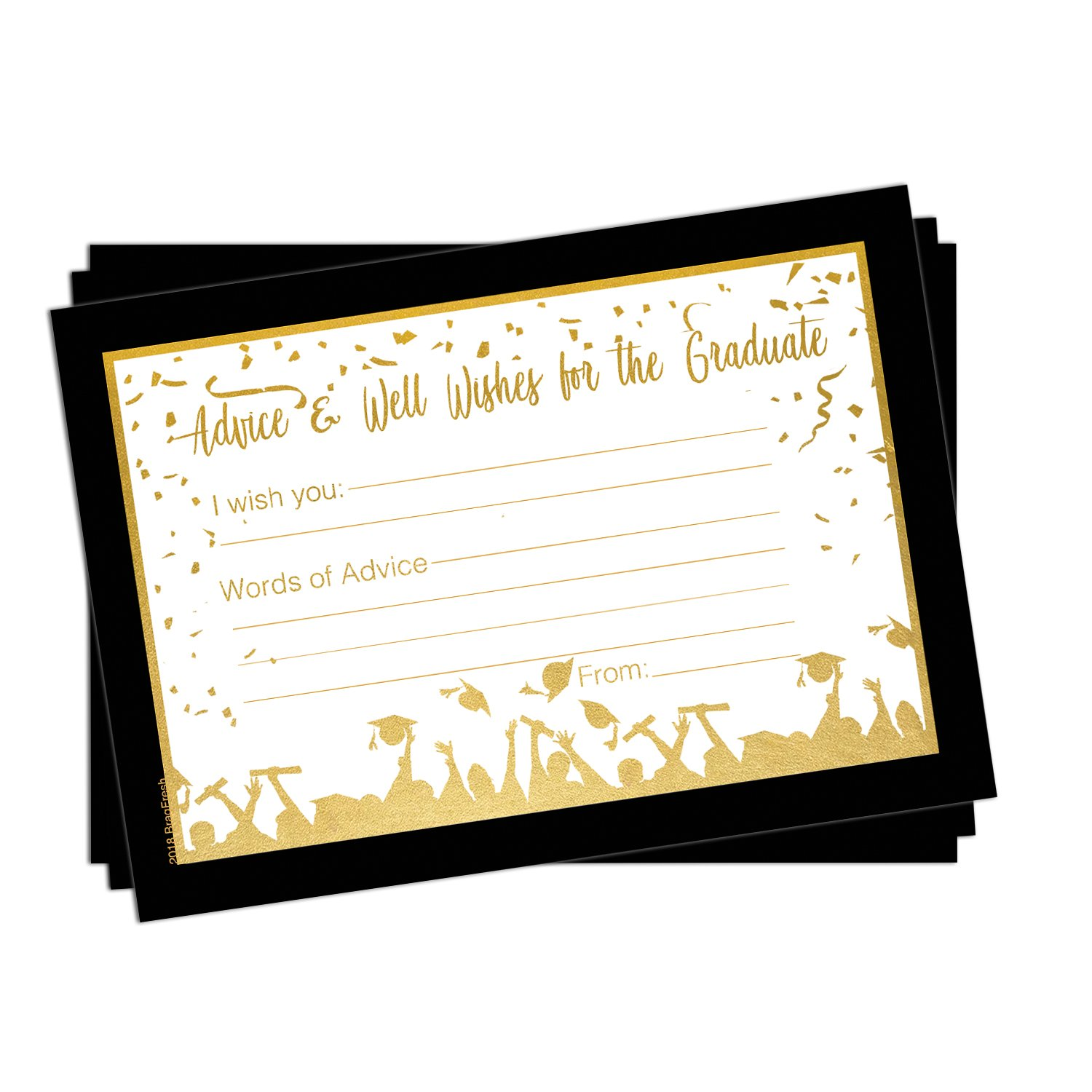 25 Graduation Advice Cards for the Graduate - High School or College Graduation Party Games Activities Invitations Decorations Supplies