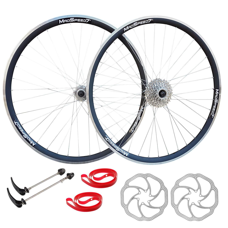 700c Hybrid 29 MTB Bike Wheel Set Disc Brake 9 speed Sealed Bearings Hub Rotor