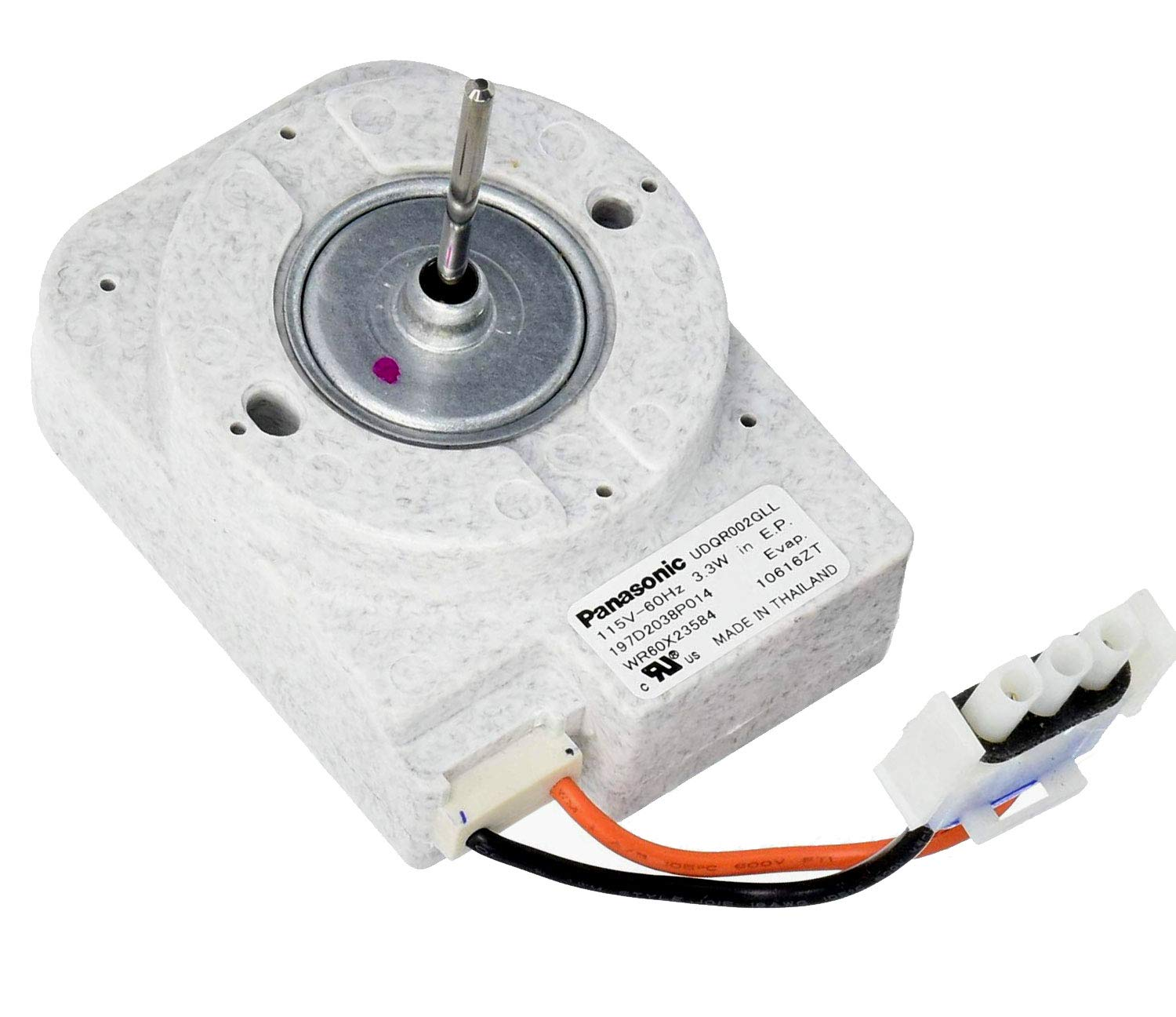 Refrigerator Evaporator Fan Motor that works with GE GTS16DTHJRWW