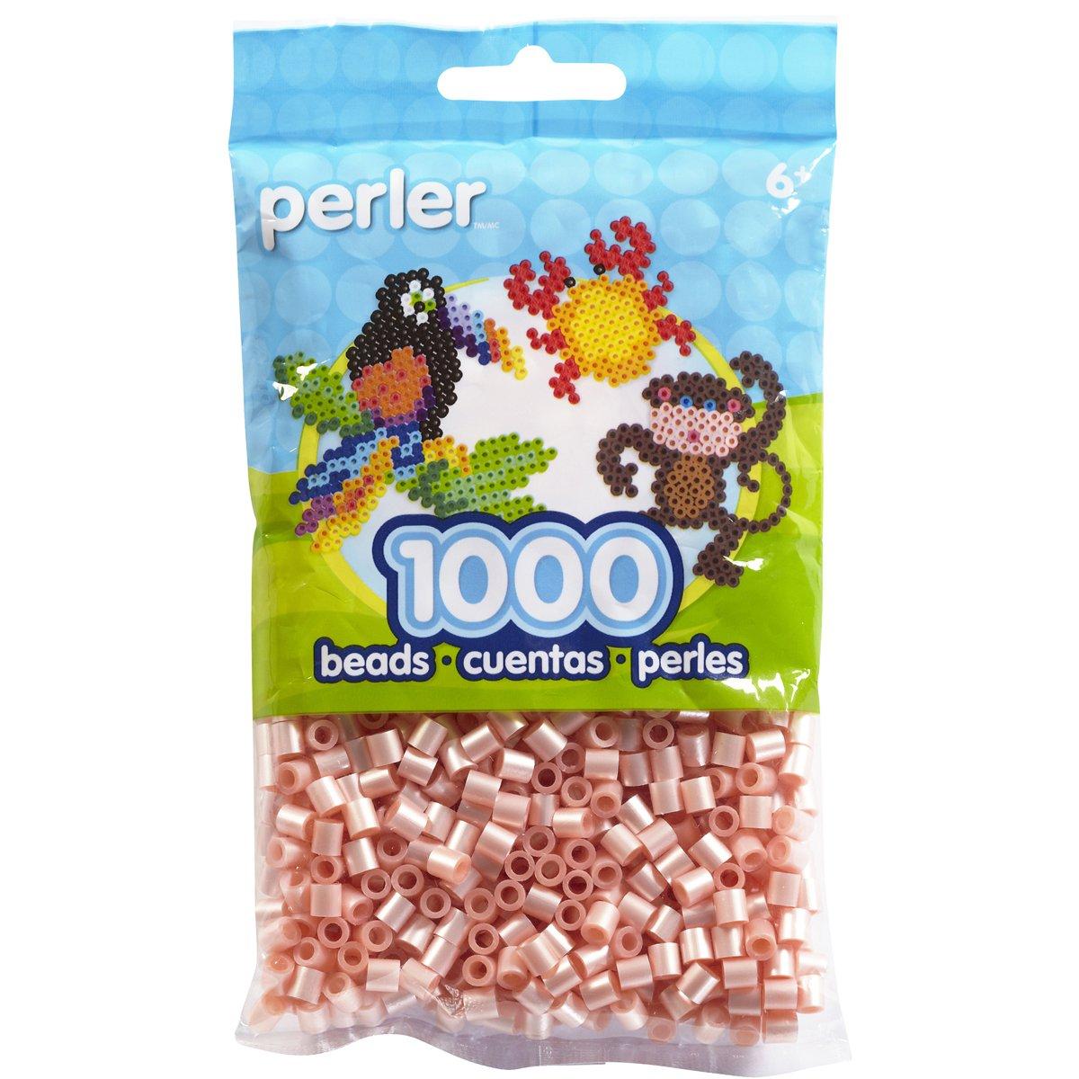Perler Beads Bag, Pearl Light Pink, 1000Count 80-15104