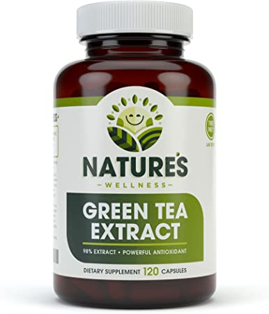 Green Tea Extract 98% Standardized with EGCG | Healthy Weight Support, Metabolism, Energy, Heart Health | Green Tea Capsules are Natural Caffeine Pills with Antioxidant & Free Radical Scavenger 1000mg