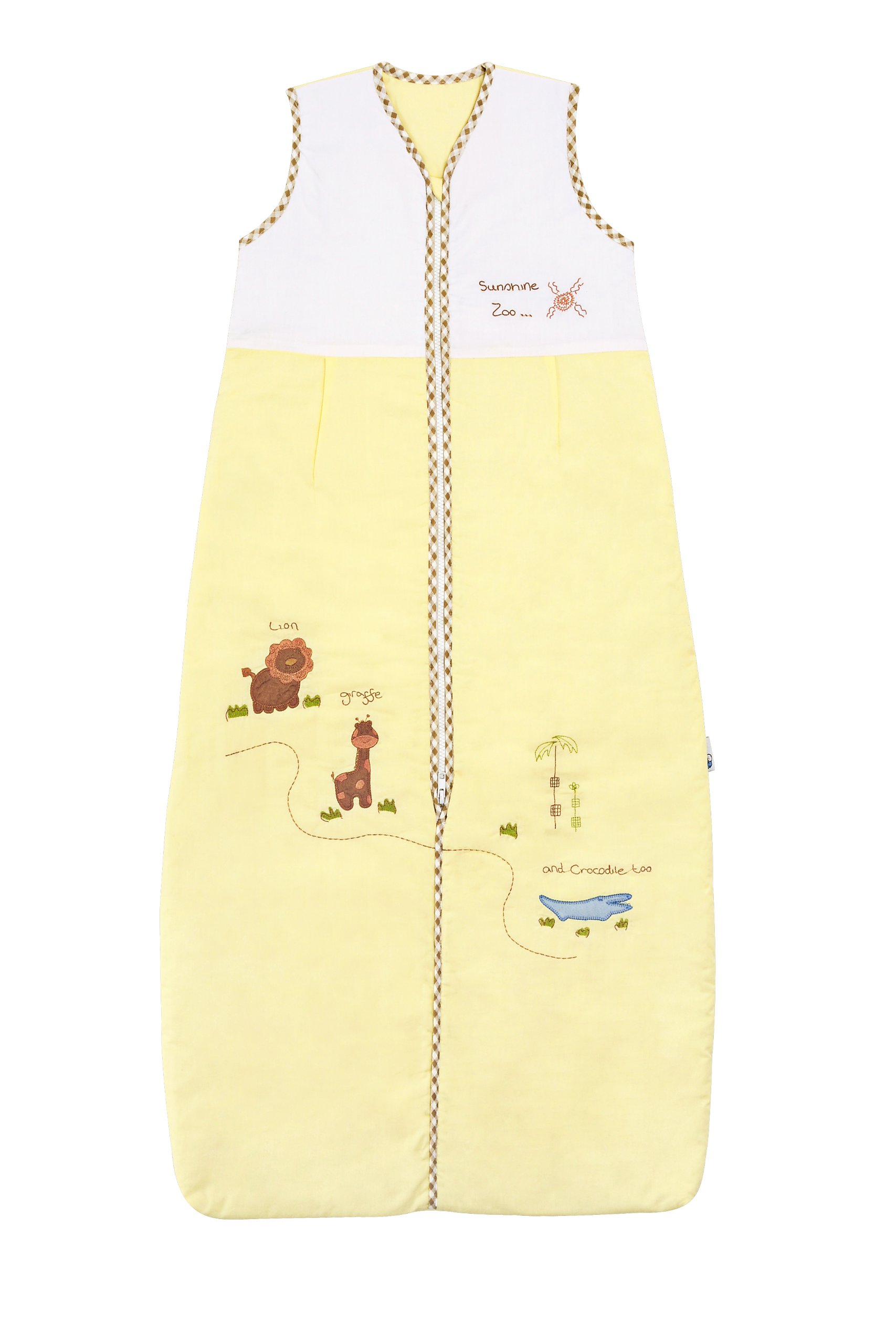 Slumbersafe Summer Toddler Sleeping Bag 0.5 Tog - Sunshine Zoo, 18-36 Months/