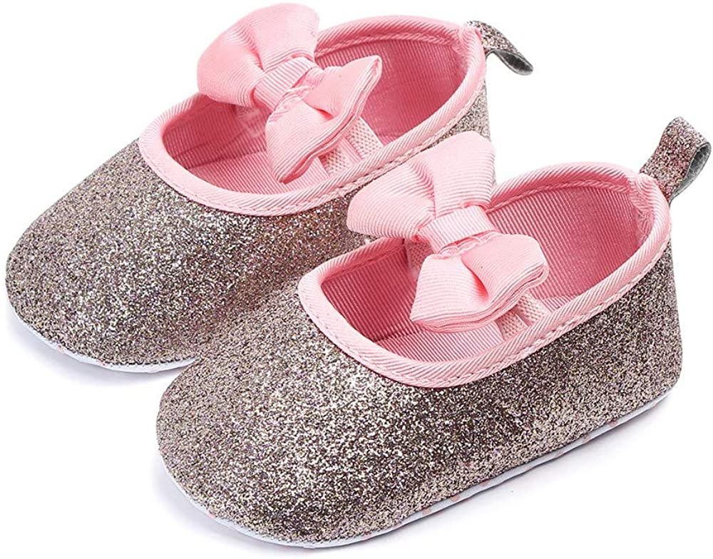 Baby Shoes Kids Toddler Newborn Girls/&Boys Solid Soft Sole Wave Bowknot Shoes