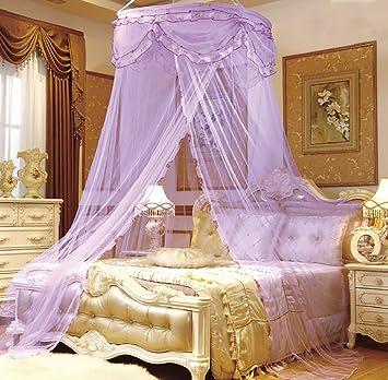 Hu0026K Kinder Prinzessin Spitze Net Rund Bett Baldachin Schlafzimmer  Betthimmel Dekoration Baby Lieb Traum Moskitonetz