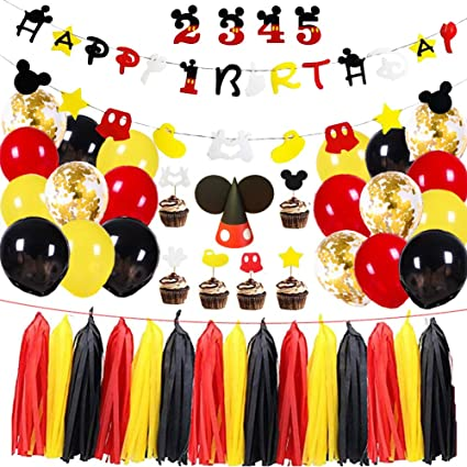 Mickey On the Go Paper Ears Mickey Mouse Party Hats Birthday Favor Supplies 8