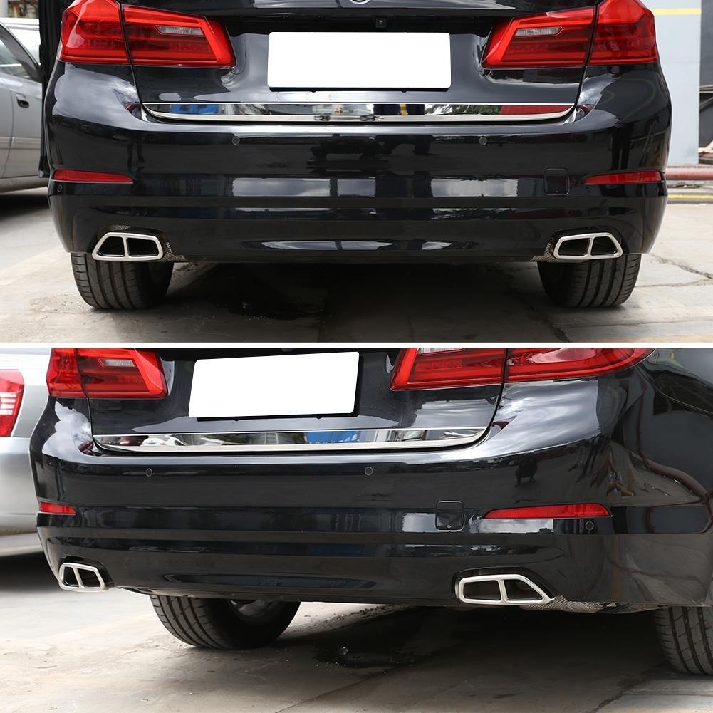starnearby 1/paio copertura Exhuast marmitta scarico in acciaio INOX per BMW 5/Series