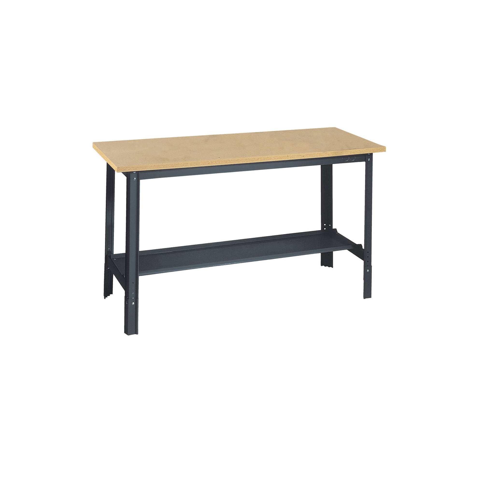 Edsal UB400 Industrial Gray Heavy Gauge Steel Economy Work Bench with 1'' Flake Board Shelf, 48'' Width x 29'' Height x 24'' Depth