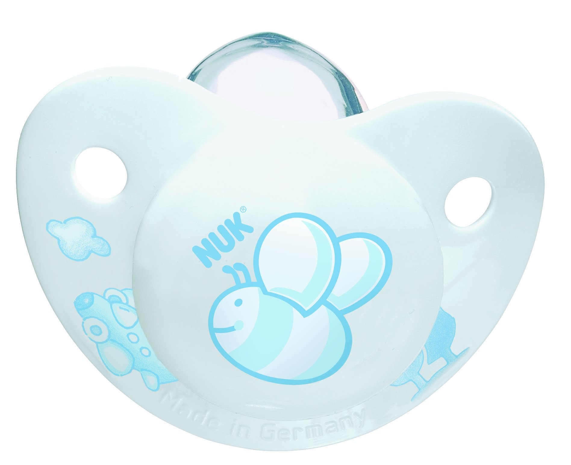 NUK Rose and Blue Silicone 2 Pack BPA Free Pacifier, Size 1, Colors May Vary (Discontinued by Manufacturer) by NUK