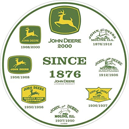 Amazon John Deere Round Sign History Of Logos Home Kitchen
