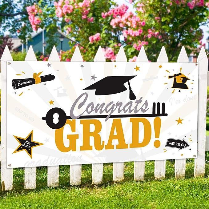 DEESEE(TM) 2019 - Pancarta de tela para fiesta de graduación ...