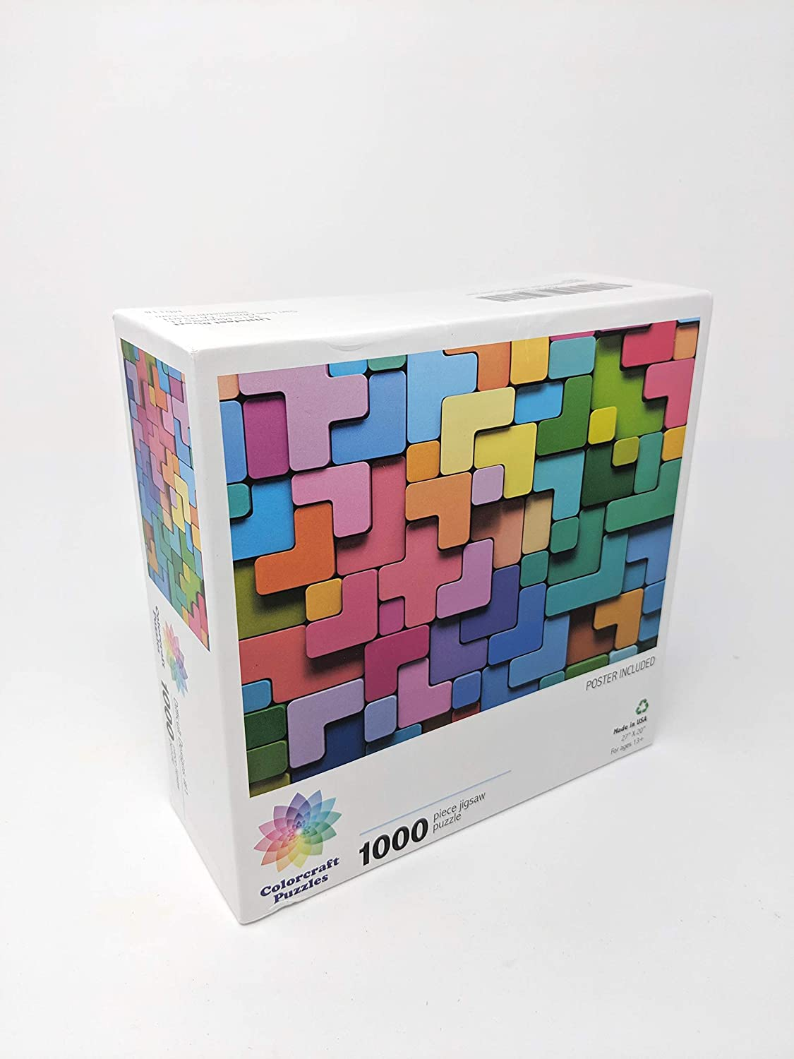 Difficult Designs #1-1000 Unique Pieces Jigsaw Puzzles for Adults Made in The USA by Color Craft Puzzles Challenge Any Puzzle Lover Littlefeet Direct