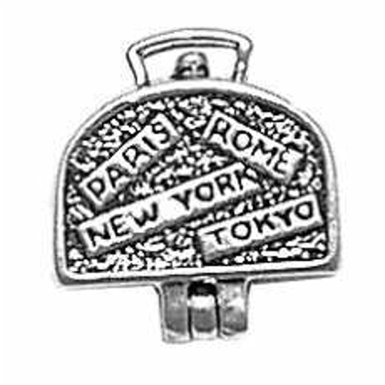 Sterling Silver Charm Bracelet With Attached 3D Moveable Suitcase Luggage With Charm