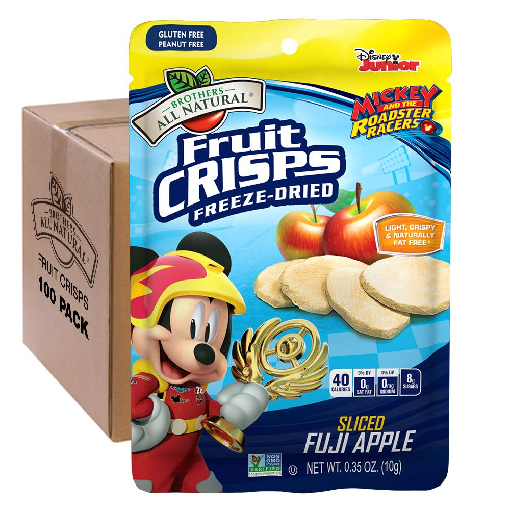 Brothers-ALL-Natural Fruit Crisps, Mickey Mouse Apple, 0.35 Ounce (Pack of 100) by Brothers-ALL-Natural