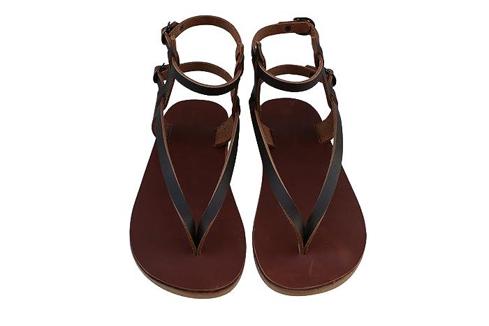 4aa943eb9 Brown Jojo Leather Sandals for Women   Men - Handmade Leather ...