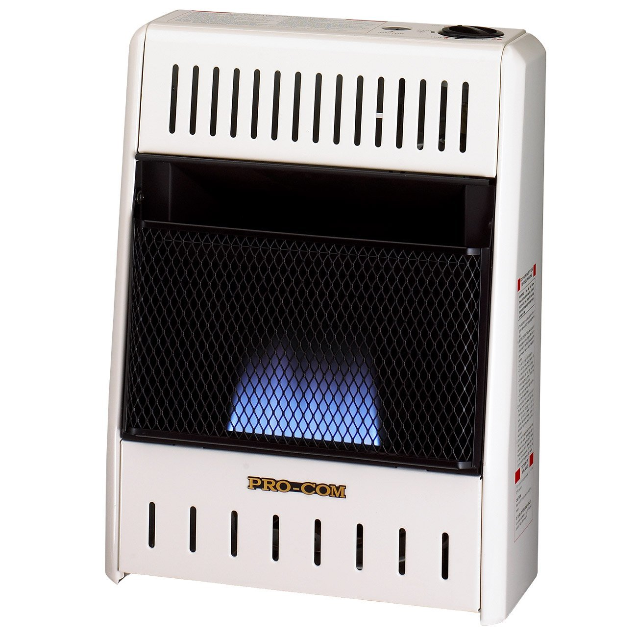 ProCom Liquid Propane Ventless Blue Flame Heater 6,000 BTU, Model# ML060HBA, White by ProCom