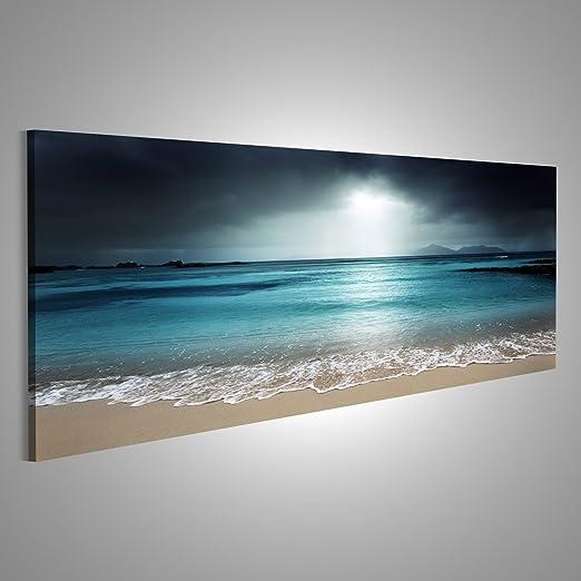 3 opinioni per Quadro moderno turchese spiaggia del mare Stampa su tela- Quadro x poltrone