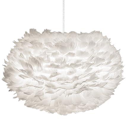Decorativa lámpara de techo colgante EOS de suaves plumas