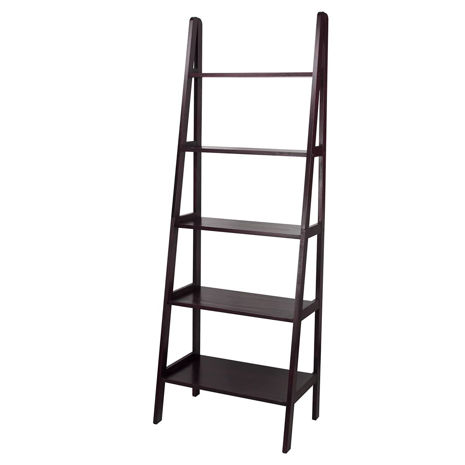 Amazon.com: Casual Home 176-53 5-Shelf Ladder Bookcase, Espresso: Kitchen &  Dining