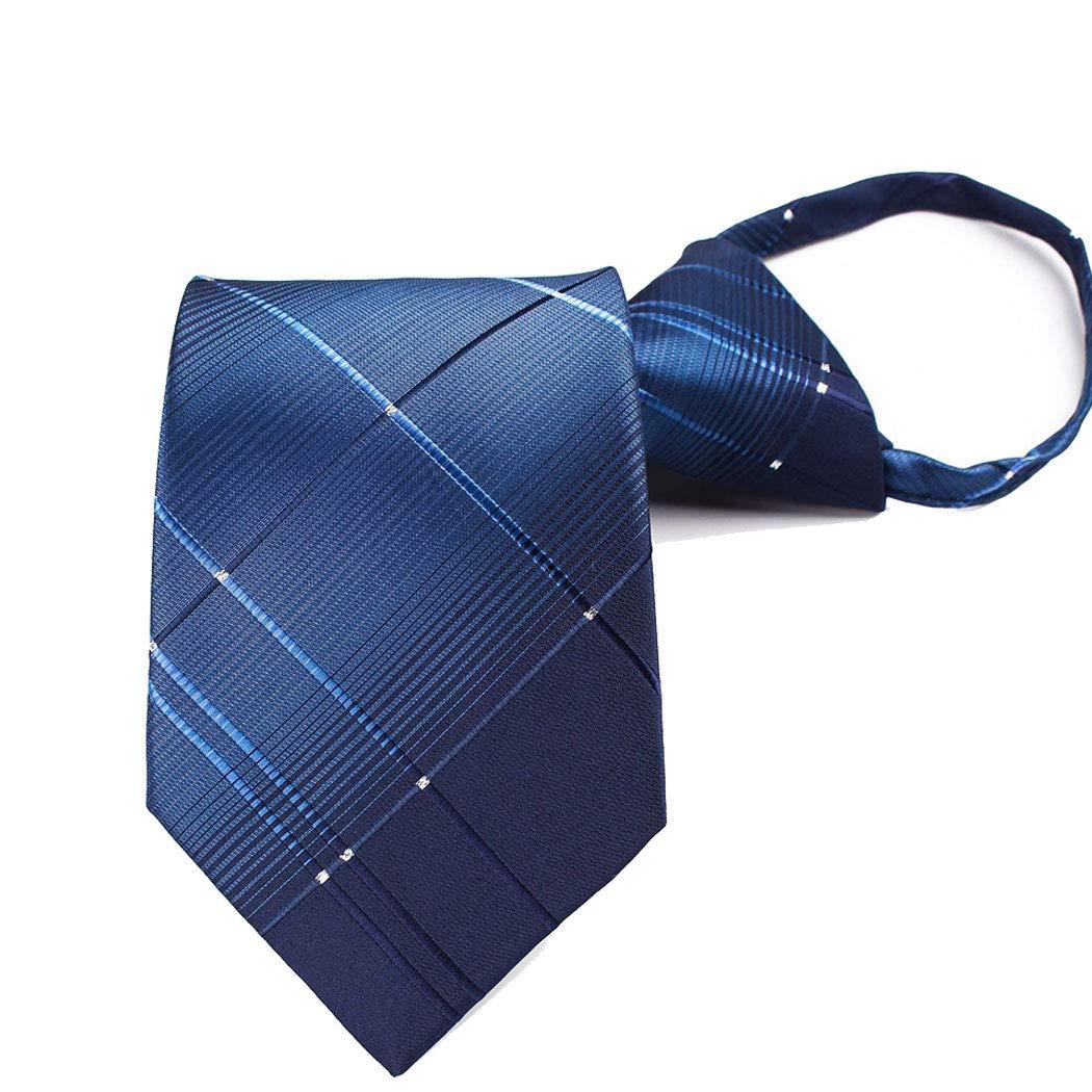 Color : 2, Size : Tie 6.51453.5cm HONGNA Mens Tie Convenient Grid Gradient Color Zipper Tie Business Korean Zipper Lazy Tie Dating Party 6.5 145 3.5 cm