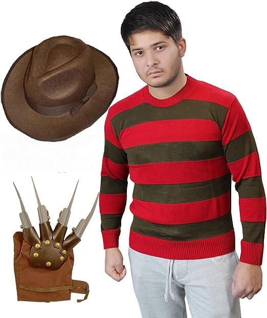 Para hombre XXL Freddy Freddie Krueger Halloween Jumper Juego de ...