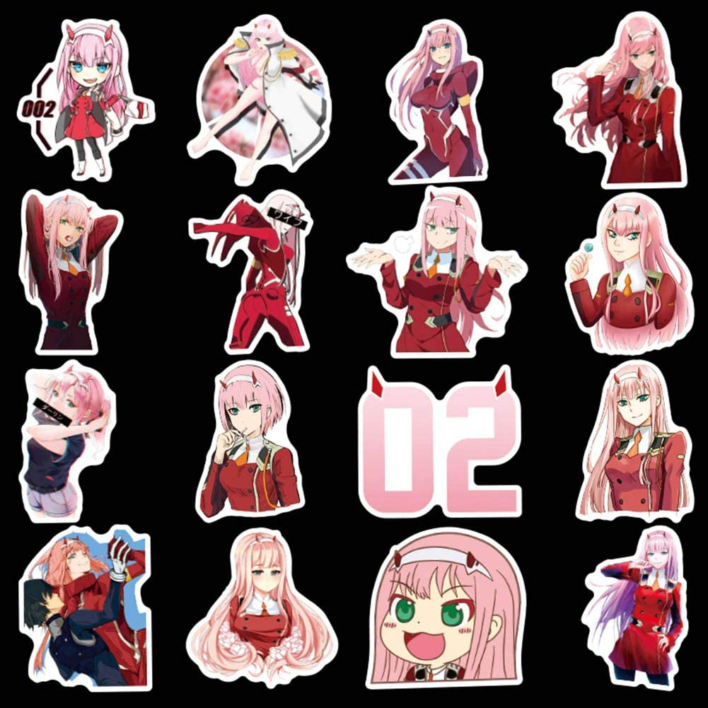 Anime Bumper Stickers for Laptop Bowinr Darling in The Franxx Car Stickers Luggage Car 50pcs Skateboard and More