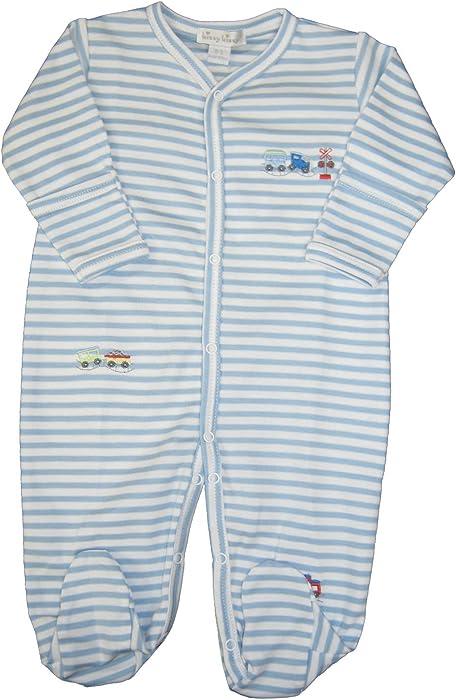 a63688fd46a9 Amazon.com  Kissy Kissy Baby-Boys Infant Little Railroad Stripe ...
