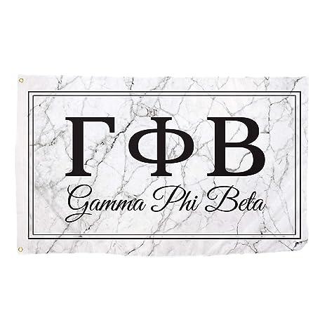 gamma phi beta marble box letter sorority flag banner 3 x 5 sign decor gamma phi