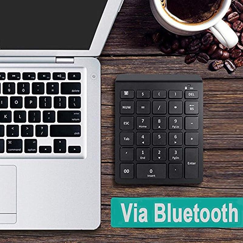 Bluetooth Number Pad, Lekvey Portable Wireless Bluetooth 28-Key Numeric Keypad