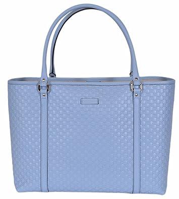 bdd9ed90724 Amazon.com  Gucci Women s Leather Micro GG Guccissima Joy Purse Handbag  Tote (449647 Mineral Blue)  Shoes