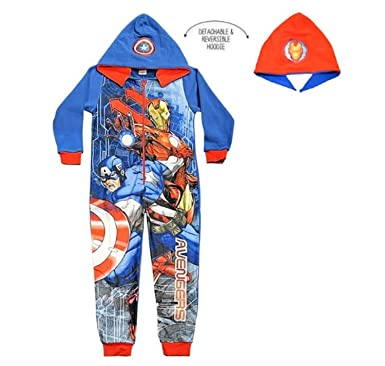 Boys Official Character Paw Patrol  avengers Fleece jumpsuit All In One Age 3-8Y