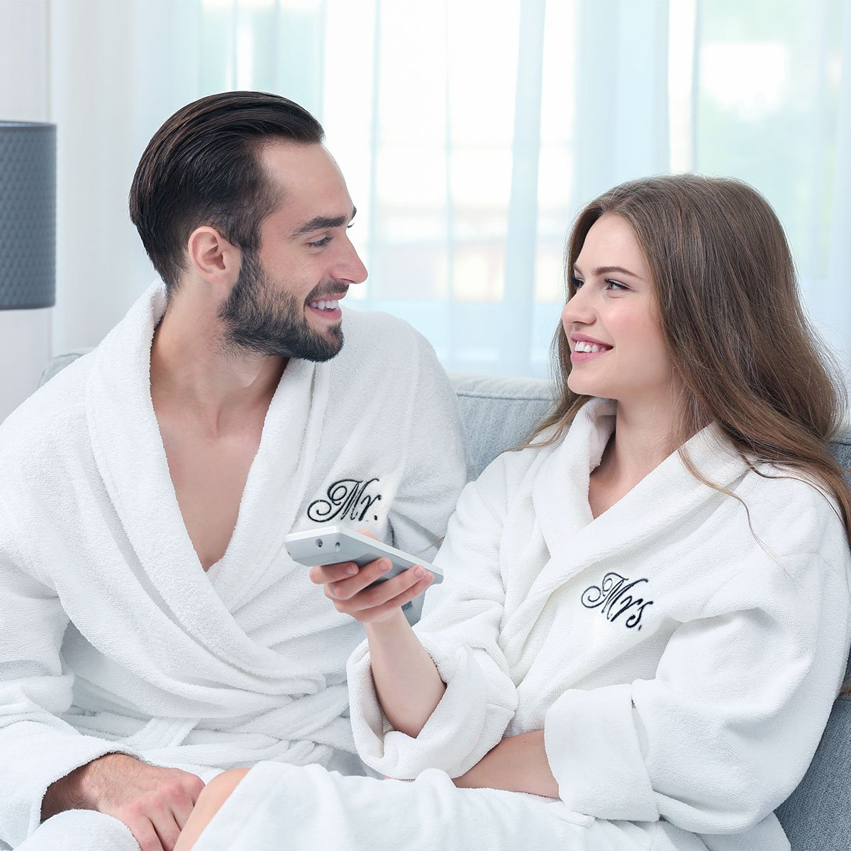 Luxor Linens - Terry Cloth Bathrobes - 100% Egyptian Cotton Mr.& Mrs. Bathrobe Set - Luxurious, Soft, Plush Durable Set of Robes by Luxor Linens (Image #4)