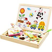 Jack Royal Magnetic Puzzle Drawing Black/White Board (White)