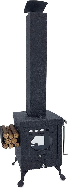 Kardalu Estufa Cuadrada Vintage Quemador de Incienso (Altura 27 cm). Ambientador Decorativo.