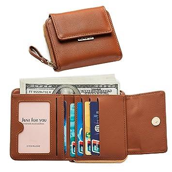 d955457c7c654 Geldbörse Brieftasche Damen Leder Portemonnaie Mädchen Kreditkarteninhaber  Mini Kompakte Niedlich Kupplung mit Reißverschluss kleines Geschenk für